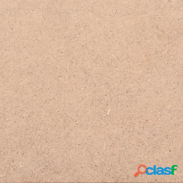 vidaXL Placa de MDF 20 pcs quadrado 60x60 cm 2,5 mm 2