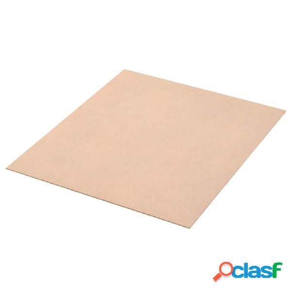 vidaXL Placa de MDF 20 pcs quadrado 60x60 cm 2,5 mm 3