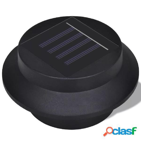 vidaXL Conjunto Lâmpada Solar 6 Peças de Exterior para a Cerca Calha 3