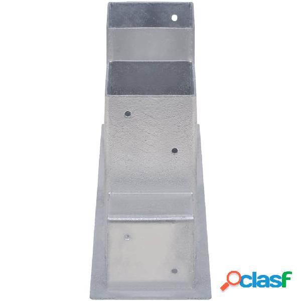 vidaXL Auxiliares de empilhamento de lenha 12 pcs aço prateado 3