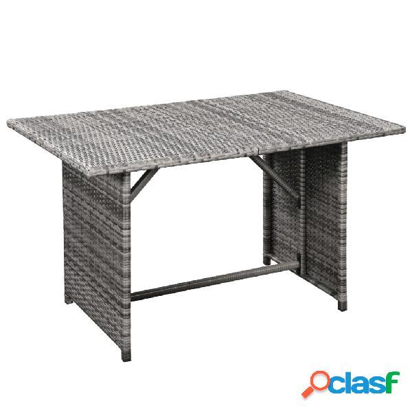 vidaXL 10 pcs conjunto lounge de jardim c/ almofadões vime PE cinzento 1