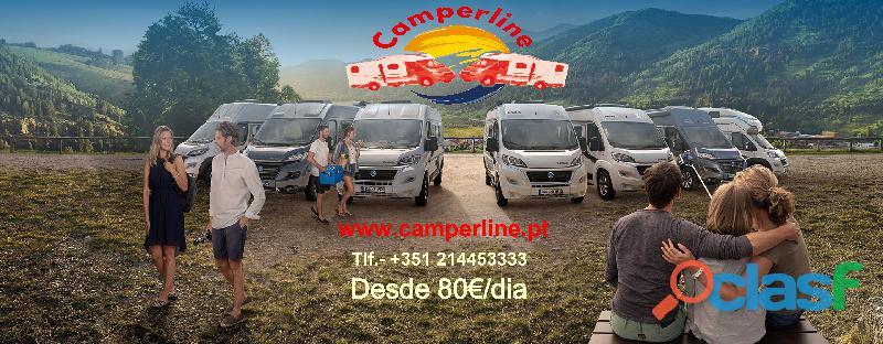 Camperline aluguer auto caravanas