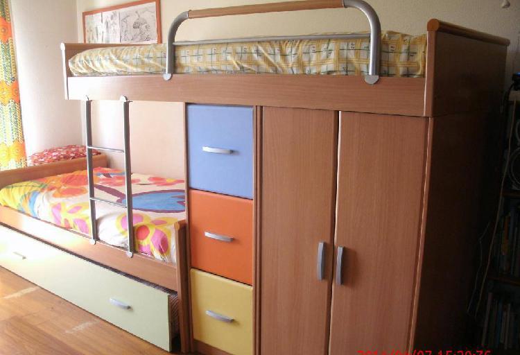 Beliche 3 camas e arrumação