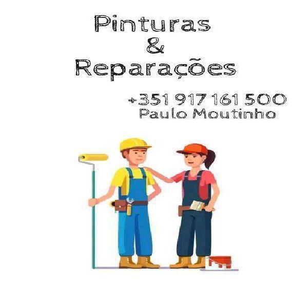 Pinturas e reparações