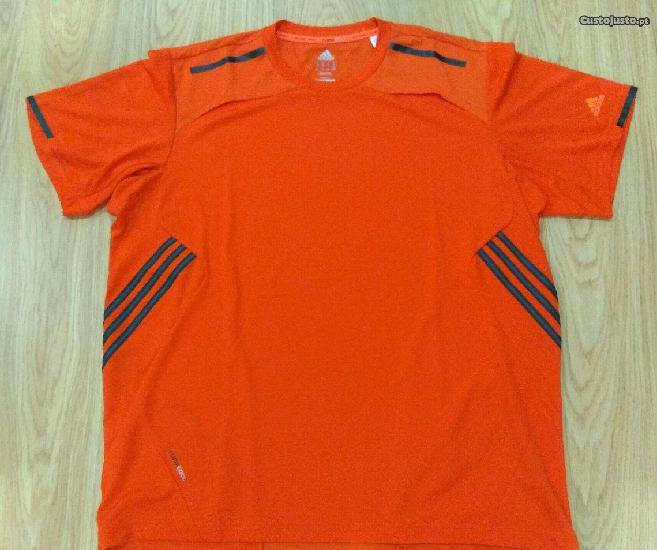 T-shirt adidas climacool tam. xl laranja (nova)