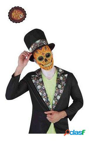 Homem luxo catrin máscara de caveira dia dos mortos rubie's