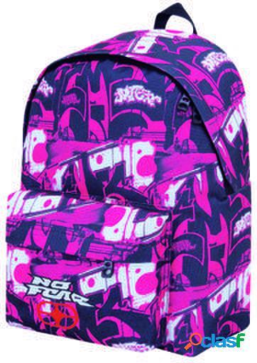 No fear novas rosa backpack etiquetas