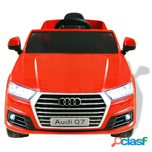 vidaXL Carro de passeio Audi Q7 elétrico 6 V vermelho 1