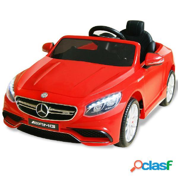 Vidaxl carro de passeio elétrico mercedes benz amg s63 12 v vermelho