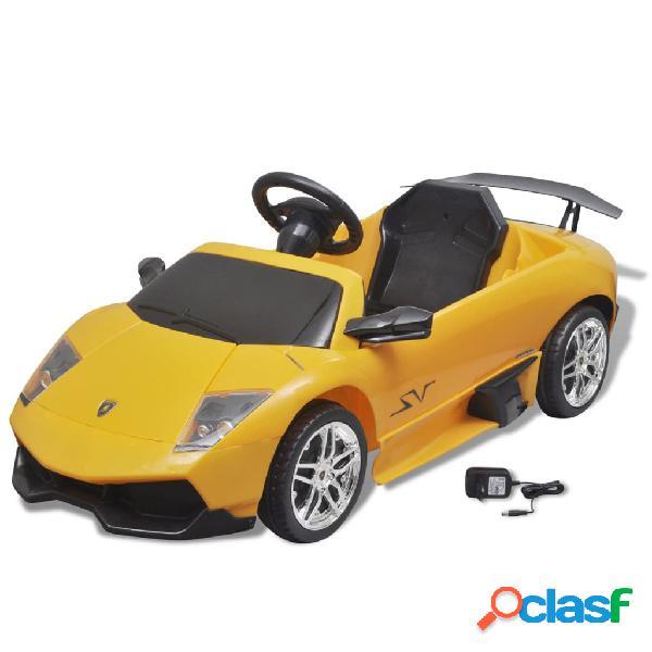 vidaXL Carro eléctrico Lamborghini Murciealgo LGOLP 670-4SV 6 V, amarelho