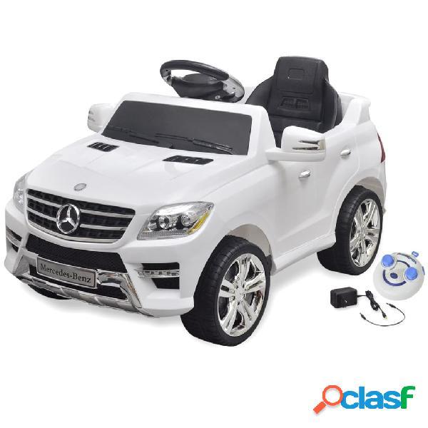 vidaXL Carro eléctrico Mercedes Benz ML350 branco 6V com controlo remoto