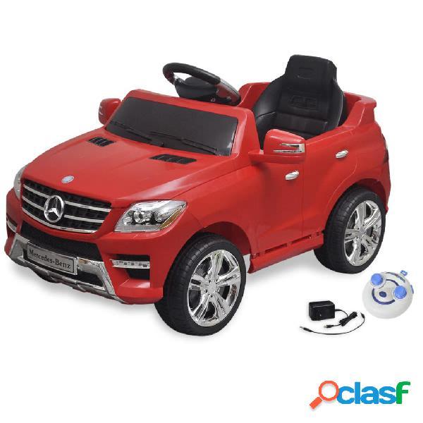 vidaXL Carro eléctrico Mercedes Benz ML350 vermelho 6V com controlo remoto