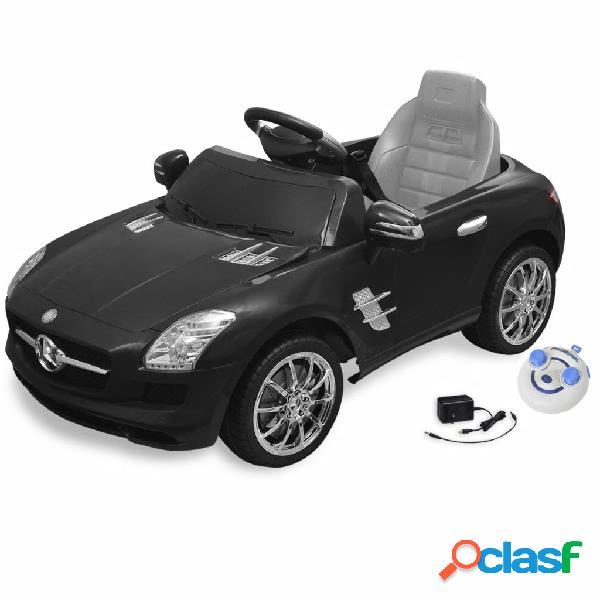 Vidaxl carro eléctrico mercedes benz sls amg preto 6v com controlo remoto