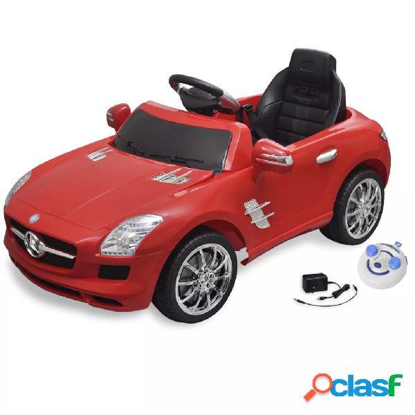 vidaXL Carro eléctrico Mercedes Benz SLS AMG vermelho 6V com controlo remoto