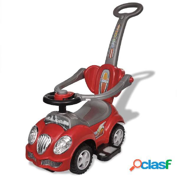 vidaXL Carro motorizado vermelho com barra de proteção