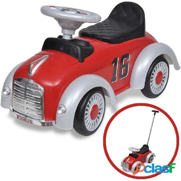 vidaXL Carro motorizado vermelho retro com barra de proteção