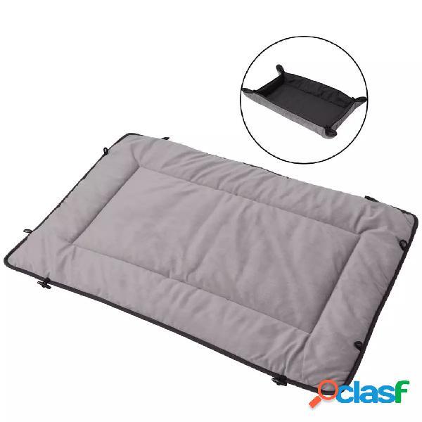 Vidaxl cama para cães 65 x 100 cm cinzento