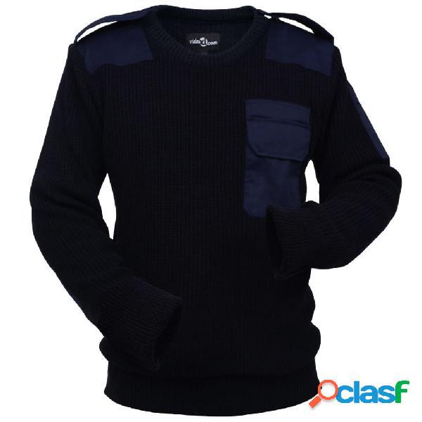 Vidaxl camisola de trabalho para homem azul marinho tamanho m