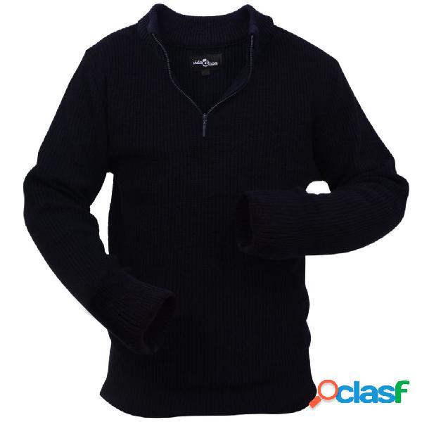 Vidaxl camisola trabalho p/ homem, azul marinho tamanho xl