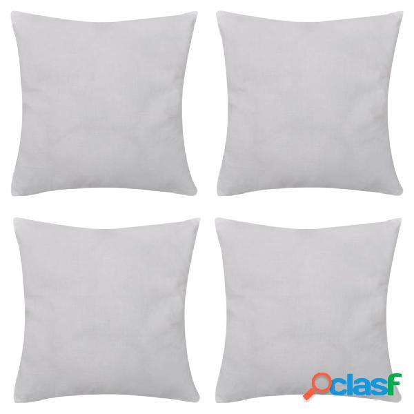 Vidaxl capas de almofada algodão 4 pcs 50 x 50 cm branco