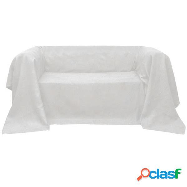 Vidaxl manta de sofá em microfibra creme 210 x 280 cm