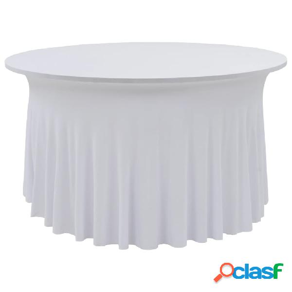Vidaxl capa extensível para mesa c/ camilha 2 pcs 120x74 cm branco