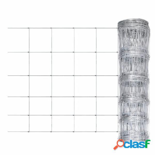 Vidaxl rede de arame quadrada galvanizada em rolo 80/6/30