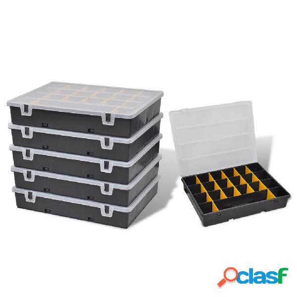 Vidaxl caixa de armazenamento, 6 peças