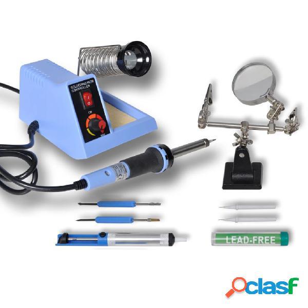 Vidaxl estação de soldar analógica 48w com acessórios