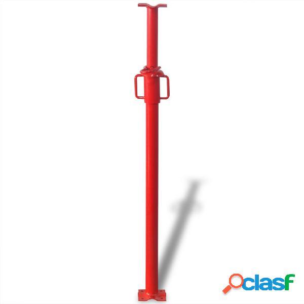 Vidaxl suporte telescópico, 180 cm, vermelho