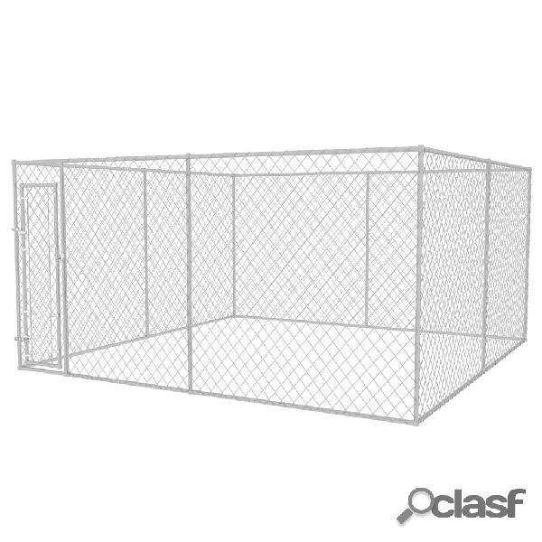 Vidaxl canil de exterior 4x4x2 m