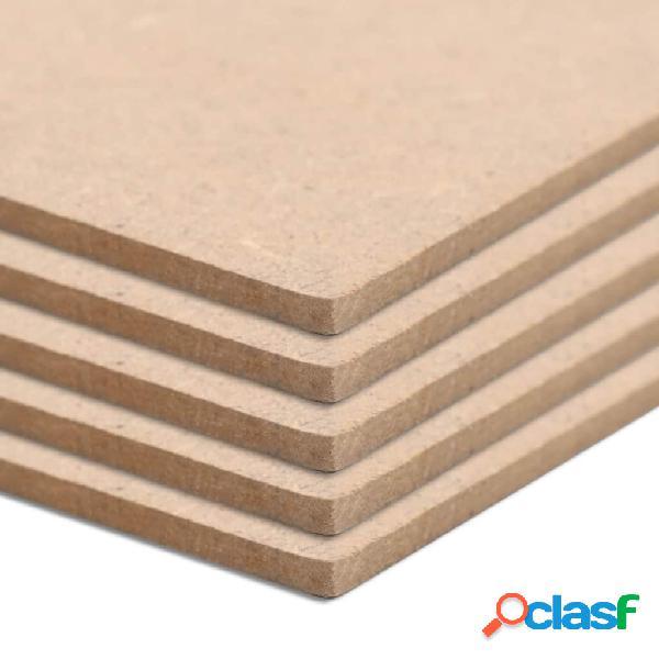 vidaXL Placa de MDF 20 pcs quadrado 60x60 cm 2,5 mm