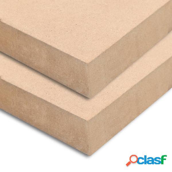 Vidaxl placas de mdf 2 pcs quadrado 60x60 cm 25 mm
