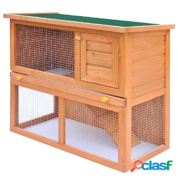 Vidaxl coelheira para animais pequenos 1 porta madeira
