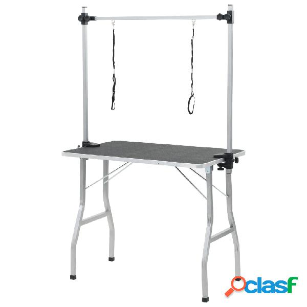 Vidaxl mesa de aliciamento com 2 laços ajustáveis, p/ cão, gato