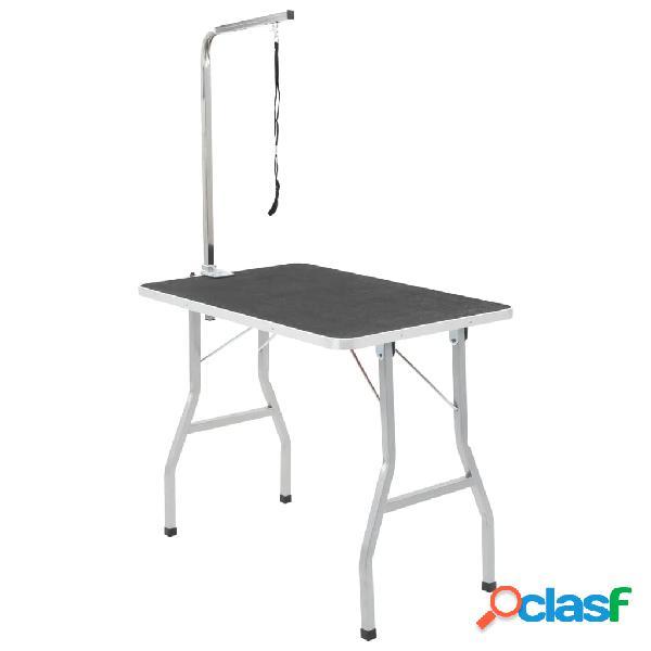 Vidaxl mesa de aliciamento com um laço ajustável, p/ cão, gato
