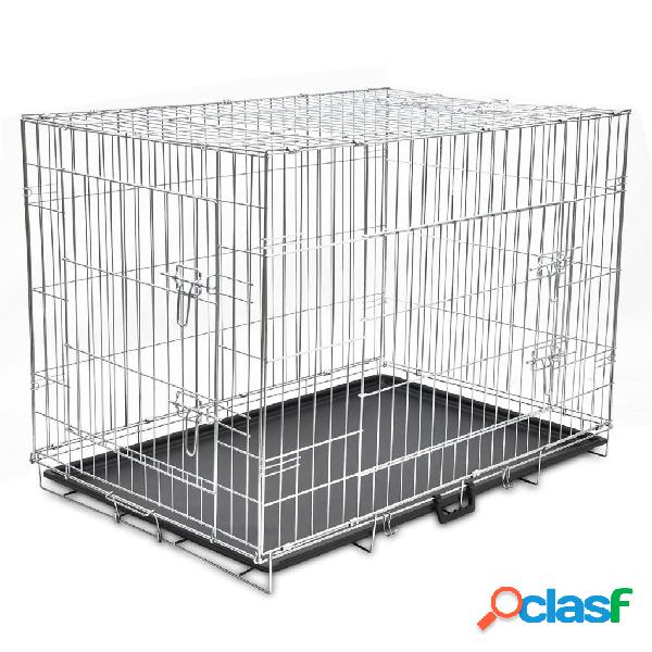 Vidaxl caixa para cão dobrável xl