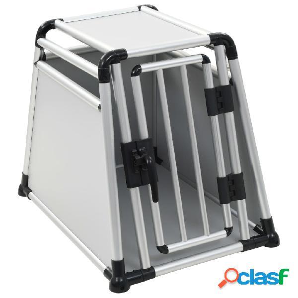 Vidaxl transportadora para cães alumínio m