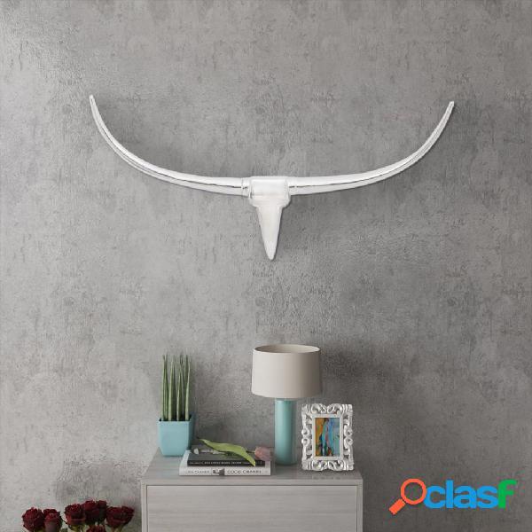 Vidaxl decoração de parede cabeça de touro, 96 cm, alumínio, prateado