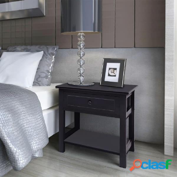 Vidaxl mesas de cabeceira, 2 pcs, madeira, preto