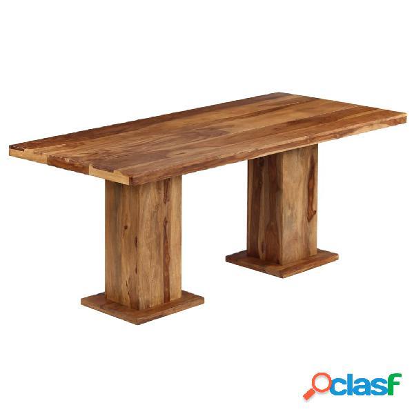 Vidaxl mesa de jantar robusta madeira de sheesham maciça 175x90x77 cm