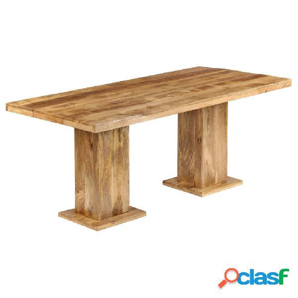 Vidaxl mesa de jantar robusta madeira de mangueira maciça 178x90x77 cm