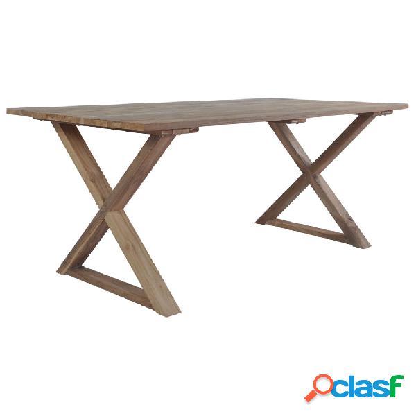 Vidaxl mesa de jardim 180x90x76 cm madeira de teca recuperada maciça