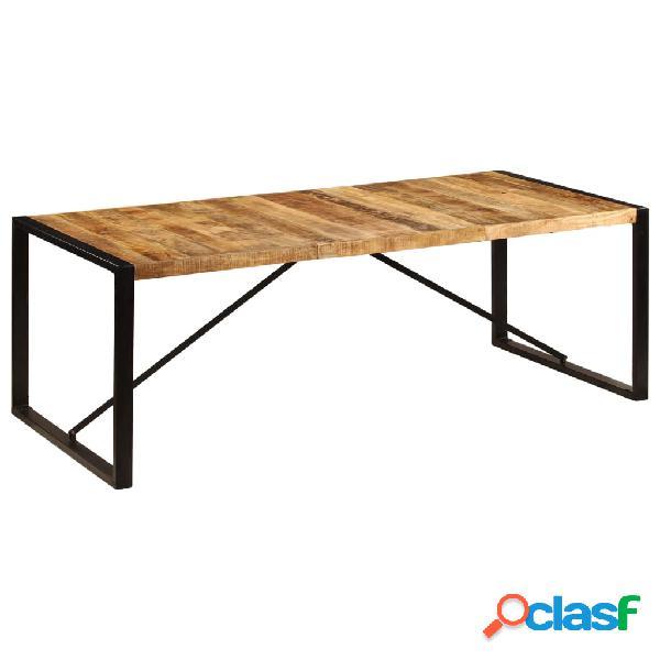 Vidaxl mesa de jantar madeira de mangueira maciça 220x100x75 cm