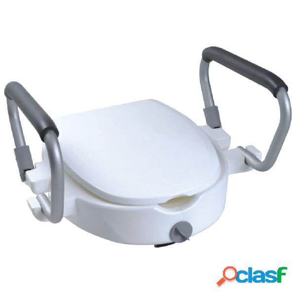 Parcura tampo de sanita elevado c/ apoio de braços 120 kg branco 84841
