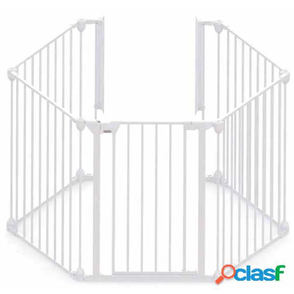 Noma portão de segurança com 5 painéis modular metal branco 94047