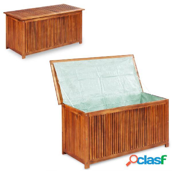 Vidaxl caixa arrumação para jardim 150x50x58 cm madeira acácia maciça