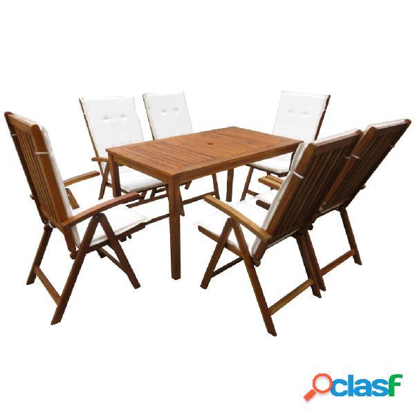 Vidaxl conjunto de jantar para jardim 13 pcs madeira de acácia maciça