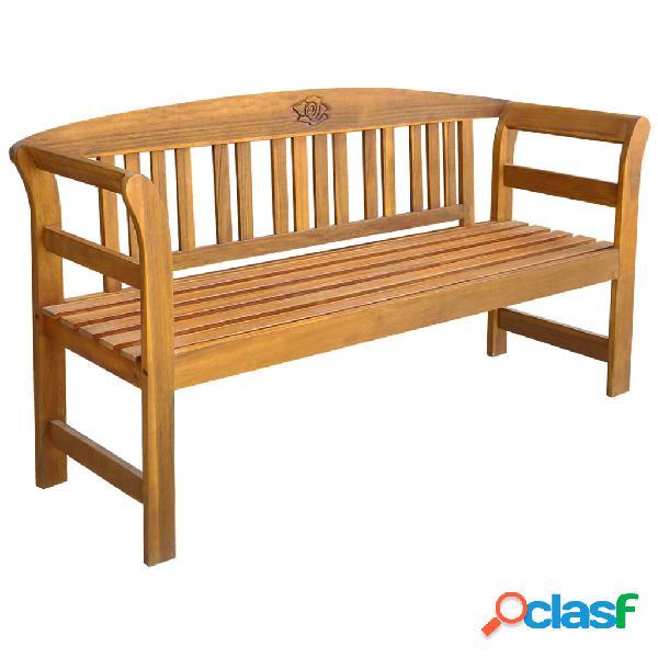 Vidaxl banco de jardim 157 cm madeira acácia maciça