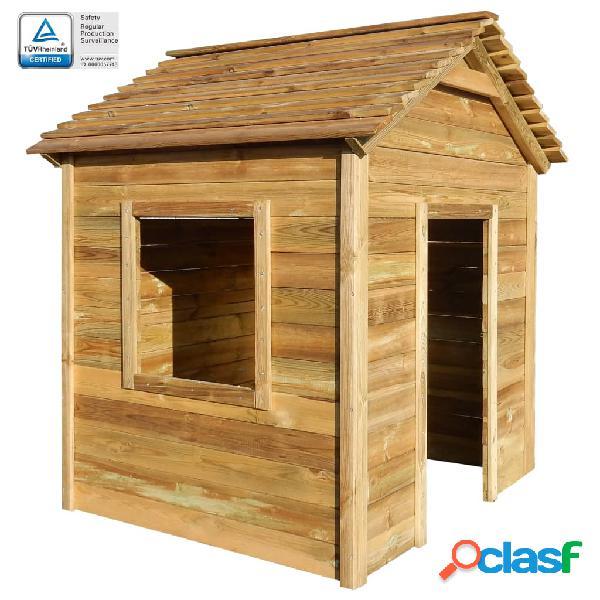 Vidaxl casa de brincar de exterior 123x120x146 cm madeira de pinho